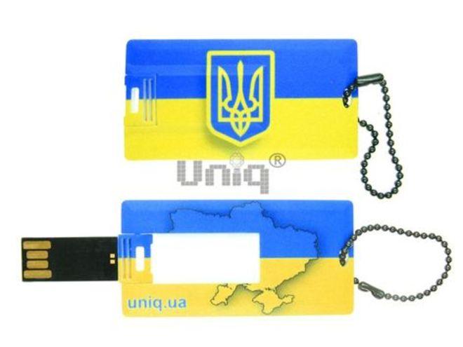 USB Flash Uniq визитка флаг Украины