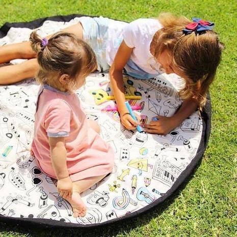 Детский игровой коврик-мешок 2в1 — фотография 1