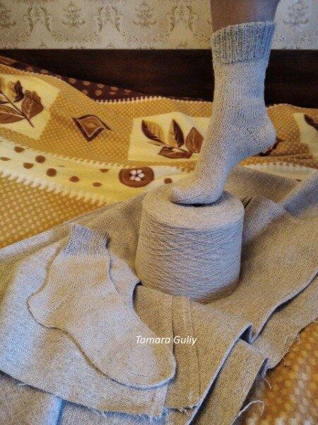 Носки вязаные ручной работы из конопляной пряжи