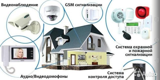 Установка  систем видеонаблюдения, домофонов, СКУД.