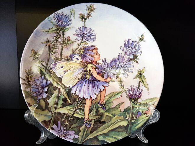 Фарфоровые, декоративные, английские тарелки с цветами и феями