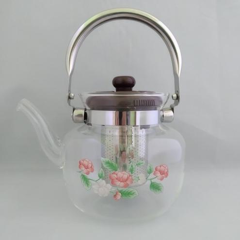 Стеклянный чайник-заварник А-Плюс TK-1045 1,2 литра — фотография 1