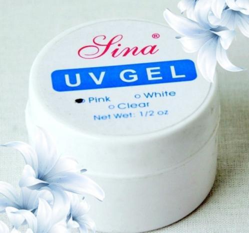 Гель для наращивания ногтей, Lina, 15 гр, прозрачный, белый и розовый