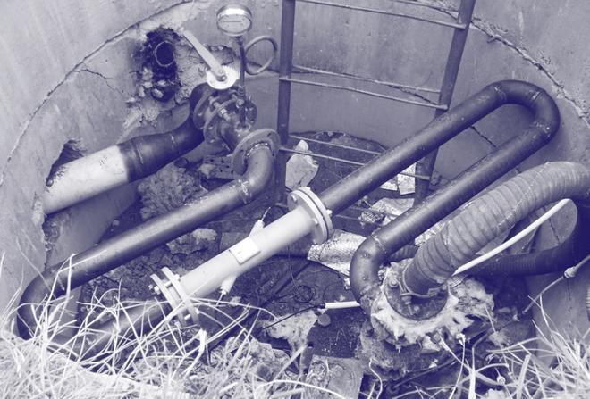 Вузол обліку стічних вод та каналізації