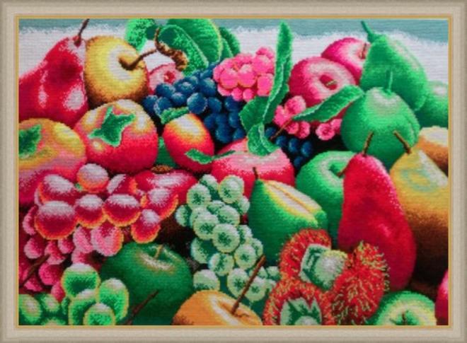 Картина крестиком Экзотические фрукты
